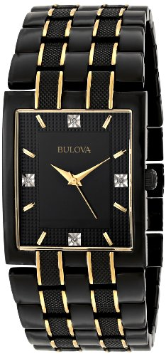 Bulova Wrist Watch - Bulova Men's 98D004 Diamond Dial Watch