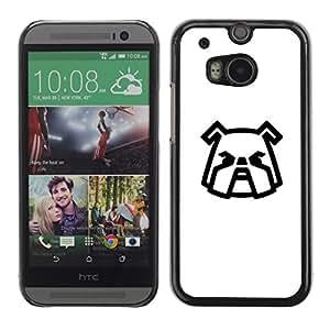 Be Good Phone Accessory // Dura Cáscara cubierta Protectora Caso Carcasa Funda de Protección para HTC One M8 // Shar Pei here