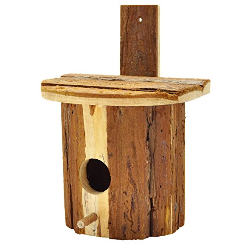Bluebird Nest Box - Gardirect Natural Bluebird House, 5.7'' x 4.7'' x 5.1''