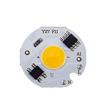 Lixada COB Chip LED Blanco 3W 220V IC Inteligente sin Conductor ...