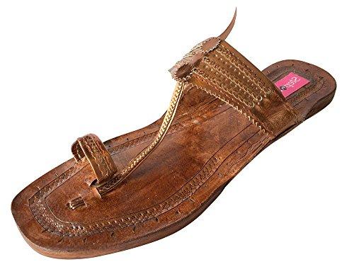 Step n Style Indian Handmade Leather Kolhapuri Slipper Mojadi Jutti