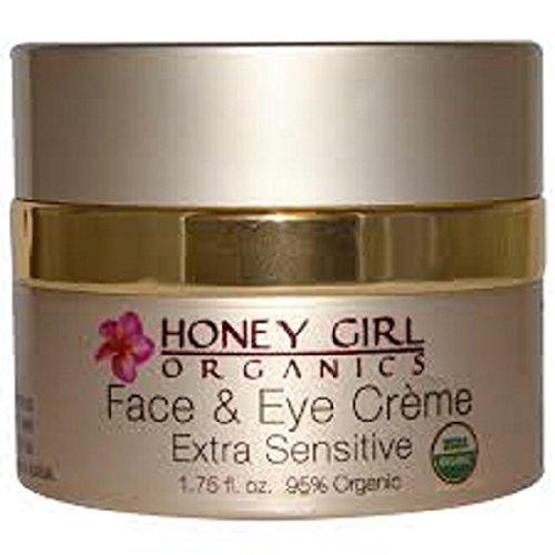 Honey Girl Organics Extra Sensitive Face and Eye Creme, 1.75 Fluid Ounce