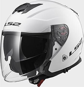 LS2 of521 infinity sólido blanco casco de moto