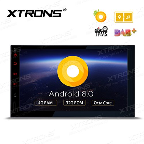 XTRONS 7 Inch Android 8.0 Octa Core 4G RAM 32G ROM HD Digital Multi-touch Screen Car Stereo GPS Radio OBD2 TPMS Double 2 Din by XTRONS