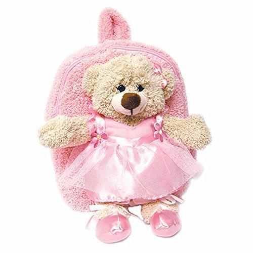 Plush Best Buddy Toddler Polyester Durable Cute Lightweight Softsided Fuzzy Backpack Dancing Ballerina Bear for Girls - Best Buddy Plush