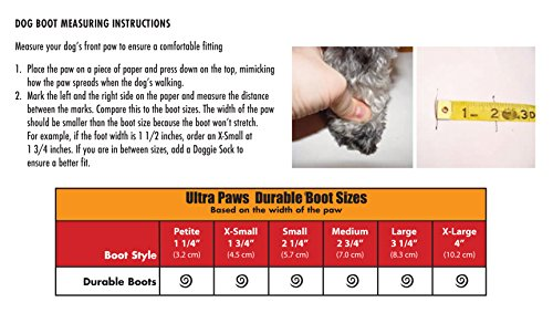 Ultra Paws Durable Dog Boots LARGE Red by Ultra Paws (Image #2)