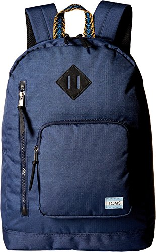 TOMS Unisex Solid Ripstop New Backpack Navy Backpack
