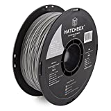 HATCHBOX PLA 3D Printer Filament, Dimensional Accuracy +/- 0.03 mm, 1 kg Spool, 1.75 mm, Gray