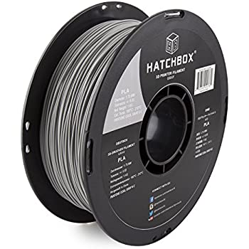 HATCHBOX 3D PLA-1KG1.75-CG6C PLA 3D Printer Filament, Dimensional Accuracy +/- 0.05 mm, 1 kg Spool, 1.75 mm, Gray