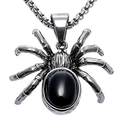 Couple Halloween Customs (Hiddleston Halloween Spider Custom Jewelry Couple Chain Pendant Necklace 20