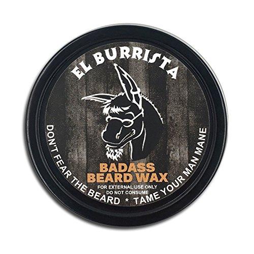 Soins de badass barbe barbe cire pour hommes - parfum El Burrista, 2 oz - adoucit les poils de la barbe, laisse ta barbe regarder et se sentir plus Dense