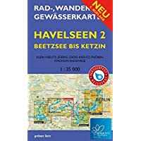 Rad-, Wander- und Gewässerkarte Havelseen 2: Beetzsee bis Ketzin: BUGA 2015 Havelregion. Mit BUGA-Route und BUGA-Expressroute. Mit Klein Kreutz, ... und Gewässerkarten Berlin/Brandenburg