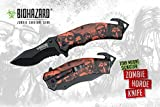 Biohazard Zombie Survival Gear Assisted-opening Rescue Knife
