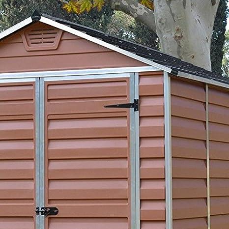 6 x 8 Palram SkyLight plástico ámbar Shed - Plástico cobertizos - Cobertizos: Amazon.es: Jardín