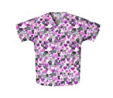 Scrub Top - Cherokee Uniforms HQ Words of Love Pink Ribbon (S) [Apparel]
