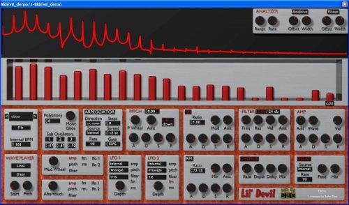 Virtual Synthesizer - Lil' Devil - Virtual Additive Synthesizer (Windows VST)