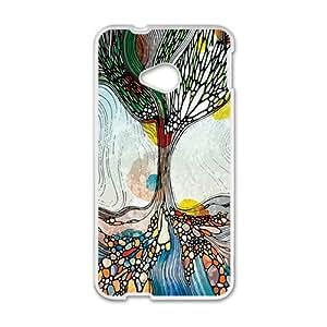 QQQO Creative Pattern Fashion Comstom Plastic case cover For HTC One M7
