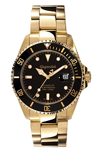 Gigandet Men's Automatic Pro Diver Watch Sea Ground Analog Stainless Steel 30atm Gold G2-004