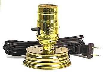 High Quality Mason Jar Lamp Kit Converts A Standard Mason Jar Into An Instant Lamp (Pkg.