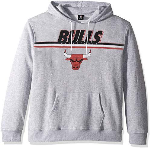 UNK NBA Adult Chicago Bulls Men's Fleece Hoodie Pullover Sweatshirt Out of Bounds, Gray, Large (Chicago Bulls Sweatshirt)