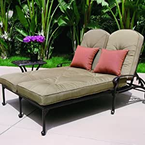 Amazon Com Darlee Elisabeth 2 Person Cast Aluminum Patio