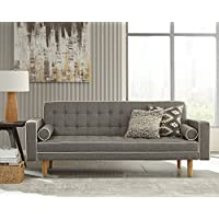 Scott Living 360022 Luskee Sofa Bed, Gray/White