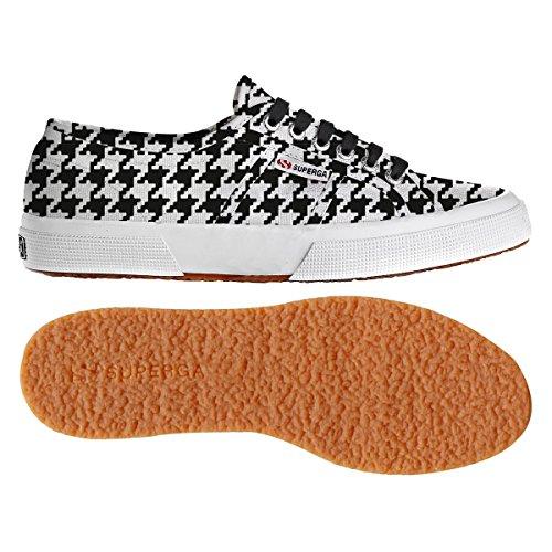 Superga - Zapatillas de deporte de lona para mujer PieddepouleBlack-Wht