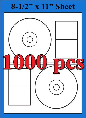 Stomper Pro Compatible Labels 2UP CD DVD Matte White Labe...