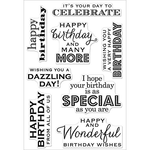 (Hero Arts CL611 Clear Stamps, Many Birthday Messages, 4