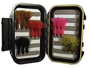 Wooly Bugger Fly Assortment by Wild Water, 15 Flies with Small Fly Box