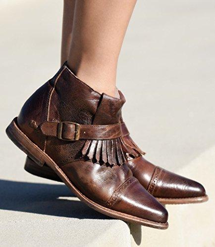 bed stu Women's Dipper Boot, Teak Rustic Rust, 9 M US by Bed|Stu (Image #5)