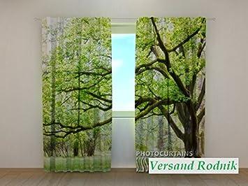 Amazon.de: 3D Gardinen Vorhänge bedruckt Vorhang mit Motiv