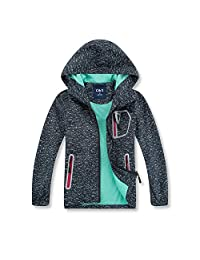 C&X Boys Rain Jacket - Lightweight Waterproof Jacket for Boys with Hood,Best for Rain School Day,Hiking and Camping