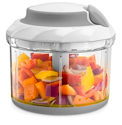 Gourmia GSC9285 Swift Chopper Pull String Manual Food Processor With 2 Mixing Blades, Durable BPA free food safe (Pull The String)