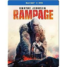 RAMPAGE STEELBOOK (Blu-ray + DVD) English, Spanish and Portuguese Audio & Subtitles - IMPORT