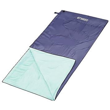 Enkeeo - Saco de Dormir Rectangular Ligero, Compacta e Impermeable para Camping, al Aire