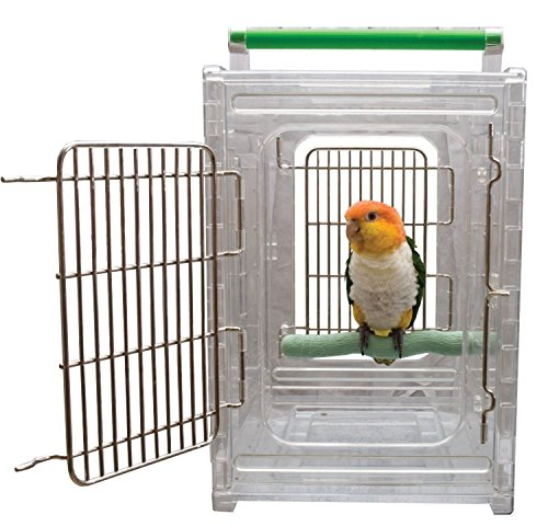 Parrot Travel Carriers (ACRYLIC PARROT TRAVEL CARRIER CAGE bird cages Quakers, Lories,)