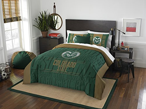 The Northwest Company Officially Licensed NCAA Colorado State Rams Modern Take Full/Queen Comforter and 2 Sham Set (Colorado Basketball)