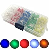 McIgIcM 300pcs Diode Led Mixed Five Color Led Lights 3mm and 5mm Diodes Diffused Led Light with Red Green Yellow Blue White