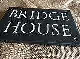 Deep Engraved Slate House Sign