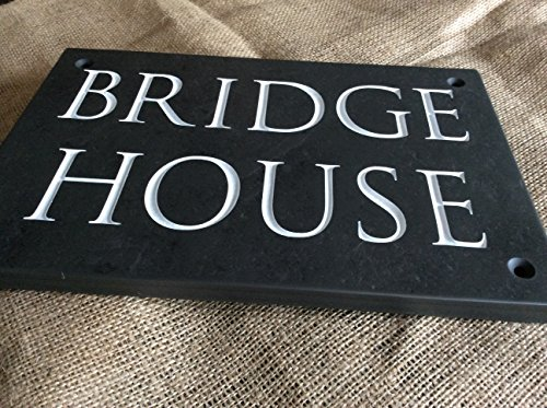Deep Engraved Slate House Sign
