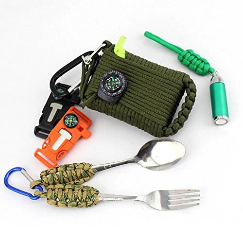 SZCHENGCI-30-in-1-Emergency-Survival-Kit-Paracord-Grenade-Paracord-Survival-Grenade-First-Aid-Kit-Survival-Paracord-Survival-Kit-Fishing-Survival-Kit-Compass-Whistle-Fire-Starter-Knife-more