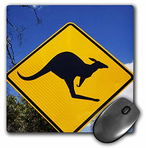 Danita Delimont - Road Signs - Australia, Victoria, Grampians NP, Kangaroo road sign-AU01 PSO0081 - Paul Souders - MousePad (mp_74681_1) (Kangaroo Road Sign)
