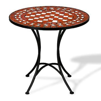 Salon de jardin Table en fer forgé et mosaique design intérieur ...