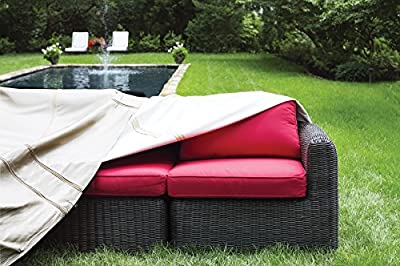 Protective Covers Wedge with Rounded Back Sectional Covers, One Size, Gray
