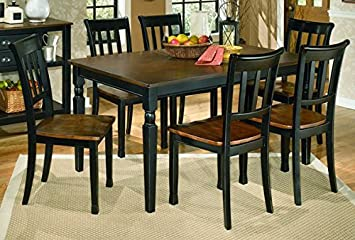 Signature Design by Ashley D580-25 Owingsville Collection Dining Room Table - Black-Brown