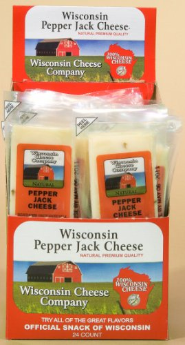 Wisconsin Pepper Jack Cheese Snack Sticks 24-2oz. Sticks