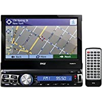 PYLE PRO PLRNV71 7 Single-DIN In-Dash Mechless LCD Motorized Touchscreen Navigation Receiver with Bluetooth(R) & GPS