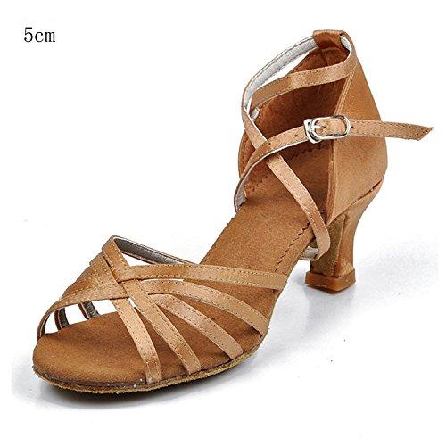 Damen 5cm Latein Schuhe 7cm VESI Standard 40 Absatz Beige zWdvnq