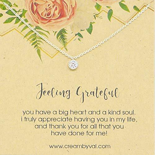 (Feeling Grateful Sterling Silver Necklace - 17'' Length)